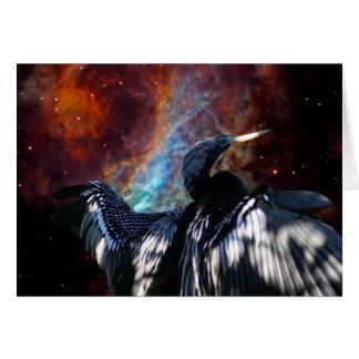 Cormorant and Cosmos Card