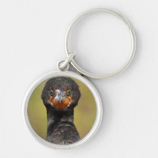 Cormorant Attitude Silver-Colored Round Keychain