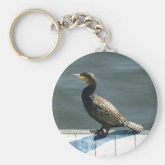 Cormorant Basic Round Button Keychain