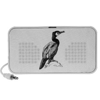 Cormorant Bird Art iPod Speaker