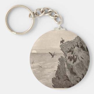 Cormorant by Theodor Severin Kittelsen Basic Round Button Keychain