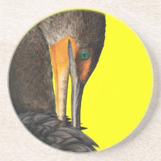 cormorant beverage coaster