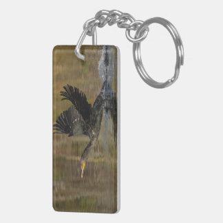 Cormorant Double-Sided Rectangular Acrylic Keychain