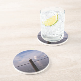 Cormorant On Pole Drink Coasters