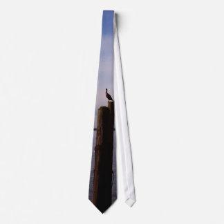 Cormorant On Pole Neck Tie