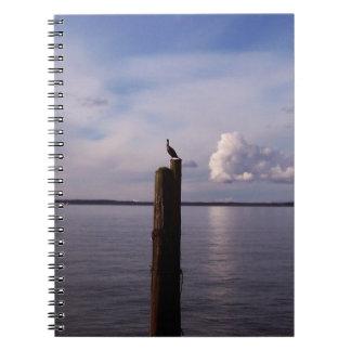 Cormorant On Pole Notebook