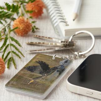 Cormorant Single-Sided Rectangular Acrylic Keychain