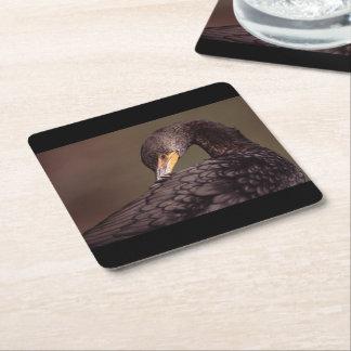 cormorant square paper coaster