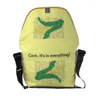 Corn Allergens on your bag. (outer graphics only) Messenger Bag