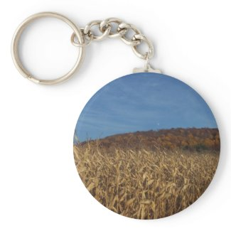 Corn and Blue Sky moon keychain