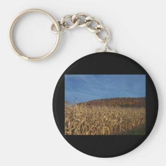 Corn and Blue Sky moon Keychain