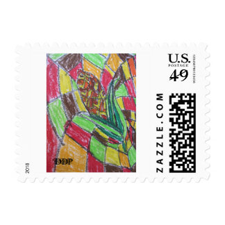 Corn art postage