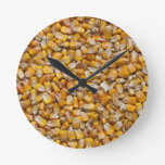 Corn Background Clock at Zazzle