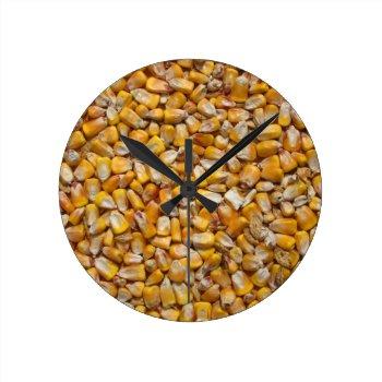 Corn Background Clock by Artnmore at Zazzle