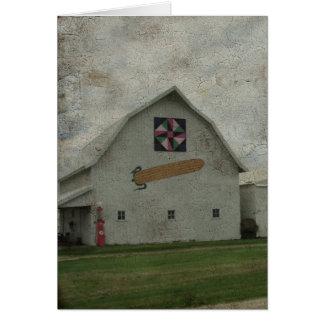 Corn Barn Crackle Card