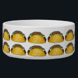 "Corn Beef Taco Print Mexican Tex Mex Food Foodie Bowl<br><div class=""desc"">Pet bowl features an original marker illustration of a tasty hard shell taco filled with beef, lettuce, cheese, tomatoes, and sour cream. Perfect for any fan of Mexican food! Matching pet accessories available! Don&#39;t see what you&#39;re looking for? Need help with customization? Contact this designer to have something created just...</div>"