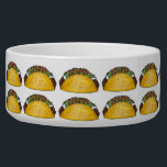 """Corn Beef Taco Print Mexican Tex Mex Food Foodie Bowl<br><div class=""""desc"""">Pet bowl features an original marker illustration of a tasty hard shell taco filled with beef, lettuce, cheese, tomatoes, and sour cream. Perfect for any fan of Mexican food! Matching pet accessories available! Don&#39;t see what you&#39;re looking for? Need help with customization? Contact this designer to have something created just...</div>"""