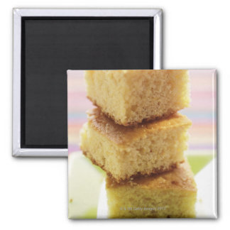 Corn bread, cut into cubes (in a pile) 2 inch square magnet