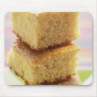 Corn bread, cut into cubes (in a pile) mouse pad