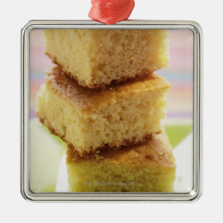 Corn bread, cut into cubes (in a pile) ornament