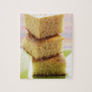 Corn bread, cut into cubes (in a pile) puzzles
