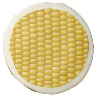 Corn Cob Background Sugar Cookie