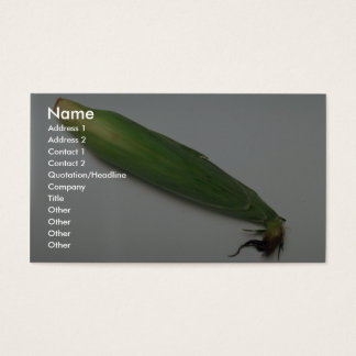 Corn cob business card
