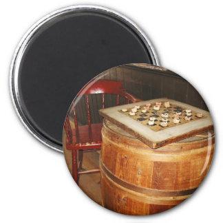 Corn Cob Checkers 2 Inch Round Magnet