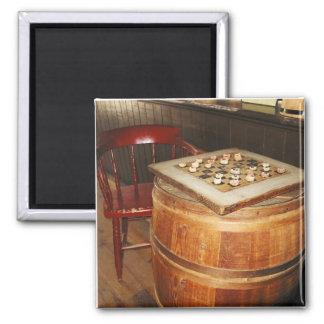 Corn Cob Checkers 2 Inch Square Magnet