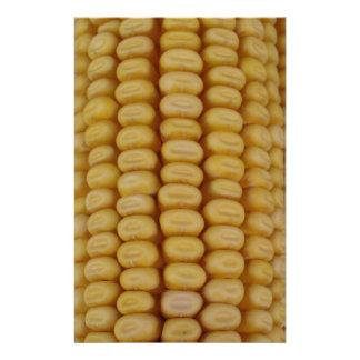 Corn Cob Close Up Custom Stationery