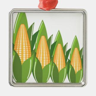 Corn Cob Metal Ornament