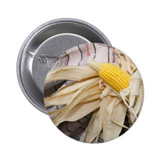Corn cob pinback buttons