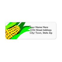 Corn Cob Return Address Label