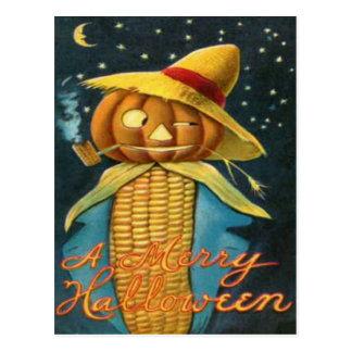 Corn Cob Scarecrow Postcard