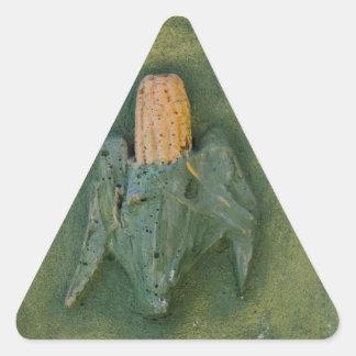 Corn Cob Triangle Sticker