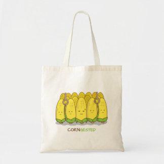 Corn Congested Public Transport Corny Pun Tote Bags