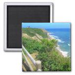 Corn Cove Cliff Path 2 Inch Square Magnet
