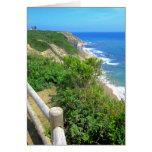 Corn Cove Cliff Path Greeting Card