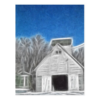 Corn Crib 1 Enhanced Oil Postcard