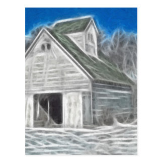 Corn Crib 5 Enhanced Oil Postcard