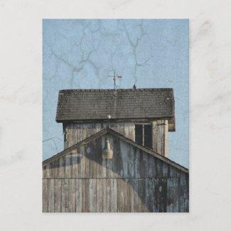 Corn Crib postcard
