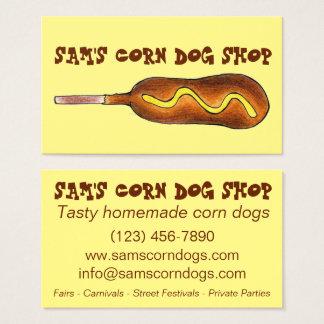 Corn Dog Corndog w/ Mustard Fair Carnival Food Business Card