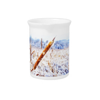 Corn Dog in winter Beverage Pitcher