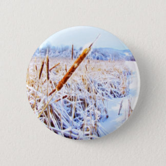 Corn Dog in winter Pinback Button