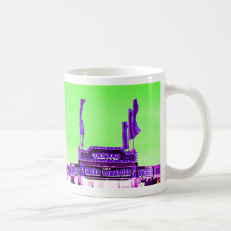 corn dog purple stand green spotty sky coffee mugs