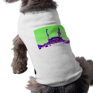 corn dog purple stand green spotty sky dog tee