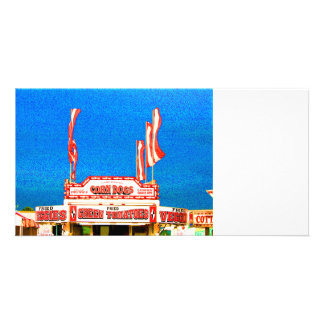 corn dog stand spotted sky customized photo card