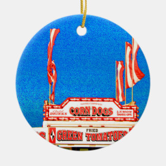 corn dog stand spotted sky ornaments