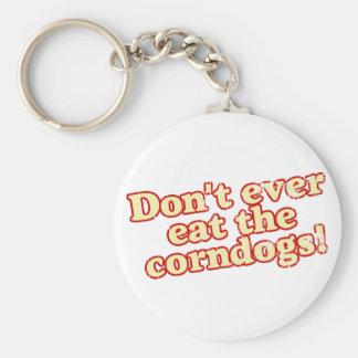 Corn Dogs Basic Round Button Keychain