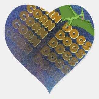 corn dogs heart sticker